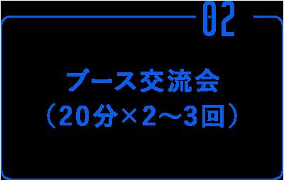 ②ブース交流会(20分×2~3回)